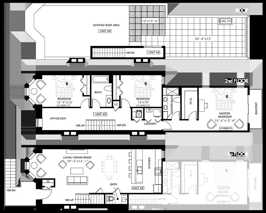 280 Summit Ave - Unit 2 Floorplan