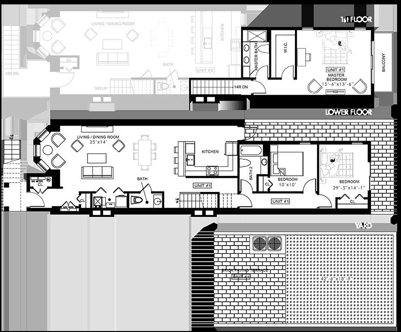 280 Summit Ave - Unit 1 Floorplan